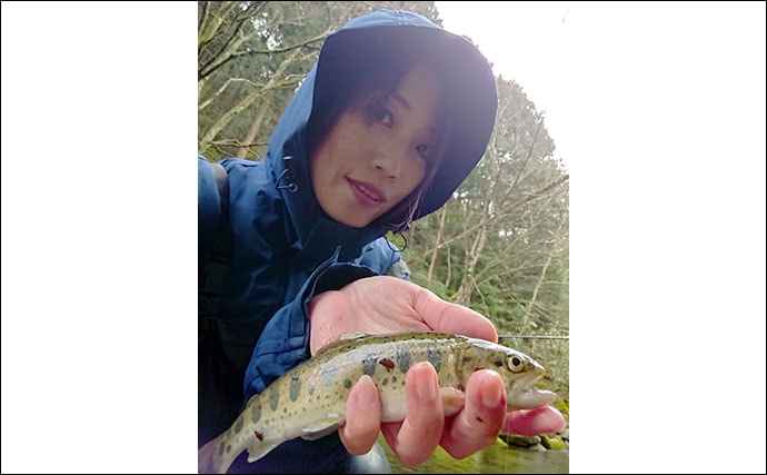 渓流エサ釣りで20cm超ヤマメ アタリ目視で興奮【福岡・岩岳川】