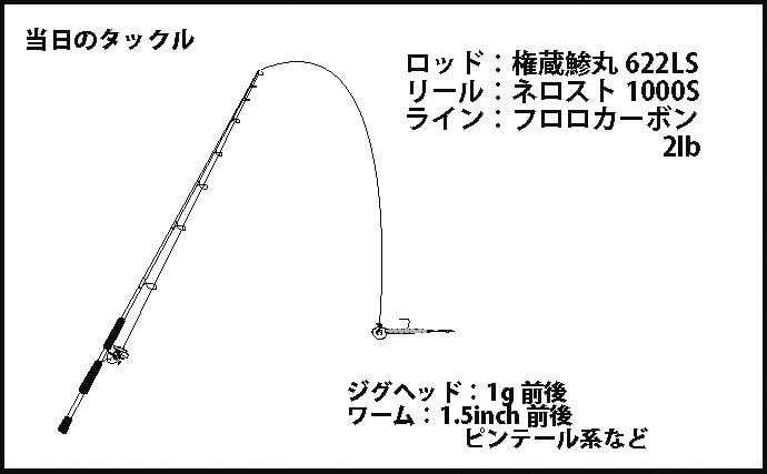 ライトゲームでタケノコメバルと遊ぶ ワーム変更でスレ防止【垂水漁港】