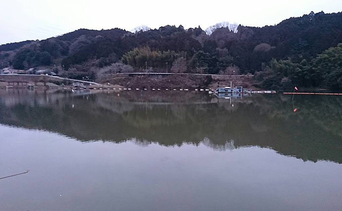 冬季のダム湖は「濁り」入ればチャンス 布目ダムでヘラブナ9尾【奈良】