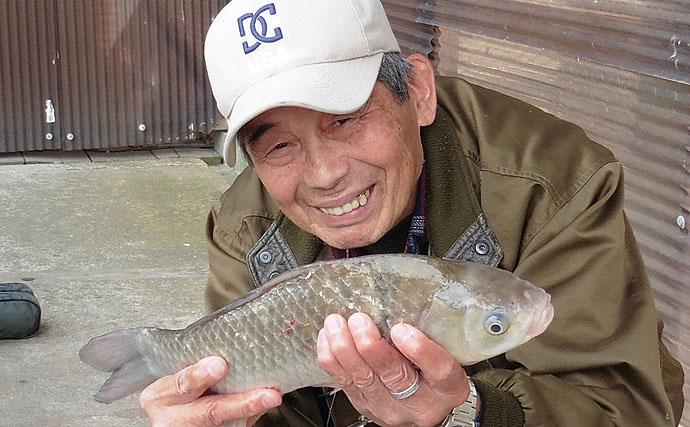 ヘラブナ管理釣り場で2ケタ釣果 エサ組み合わせがキモ【へら釣り西池】