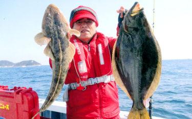 シーズン佳境の寒ビラメ釣り 潮の動き出しに63cm仕留めた【忠栄丸】