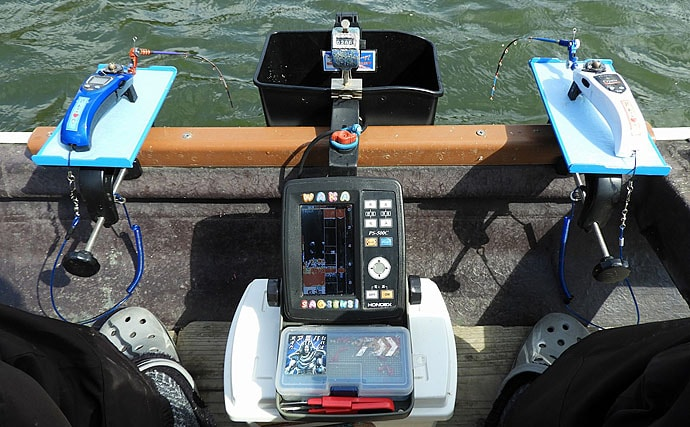 終盤戦のボートワカサギ釣りで483尾 ロープ間小移動で竿頭【相模湖】
