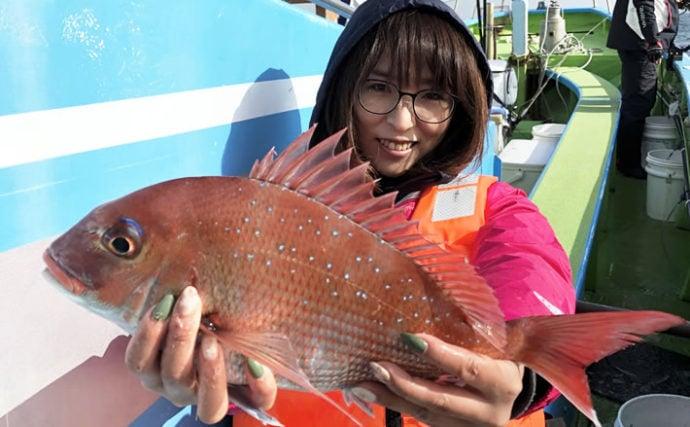 東京湾コマセマダイで乗っ込み調査釣行 低水温に苦戦【一之瀬丸】