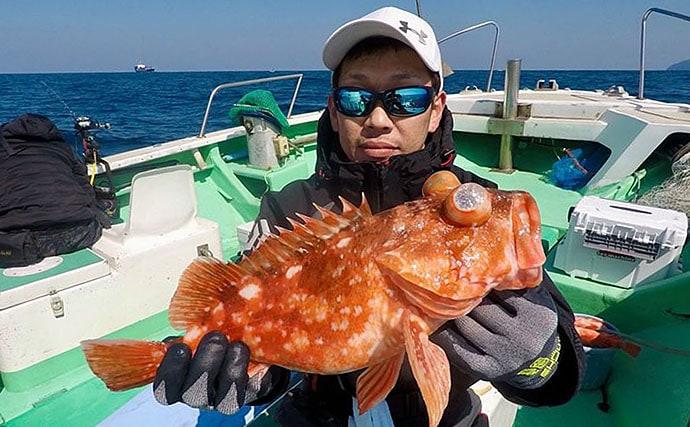 【大分&熊本】沖釣り最新釣果 沖アラカブ好調にメバル40尾の数釣り
