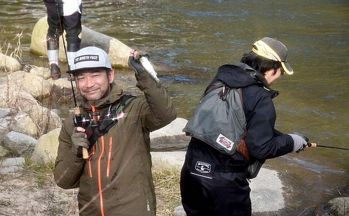 解禁当日の『渓流エサ釣り』で美アマゴ40匹超キャッチ【岡山・奥津川】