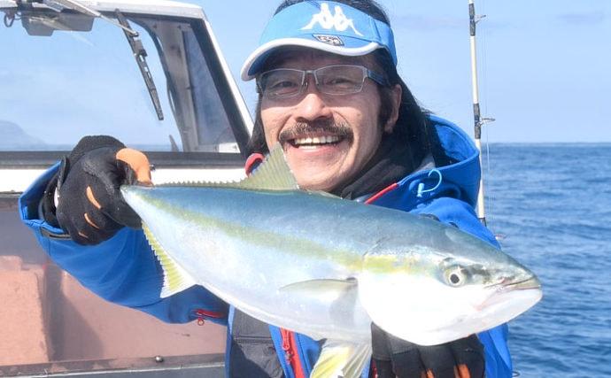 日本海に春の青物シーズン到来 ジギングで1m超ブリやヒラマサ【兵庫】
