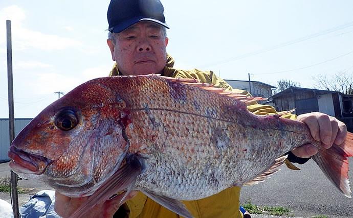 【大分&熊本】沖釣り最新釣果情報 各地で乗っ込み期の良型マダイ浮上