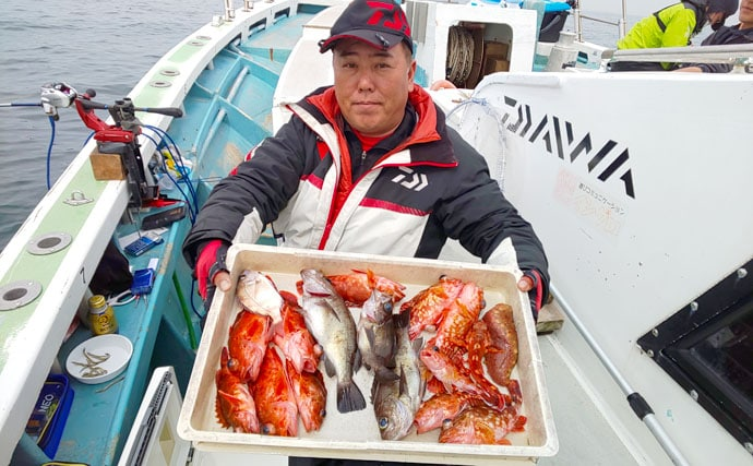 【愛知】沖のエサ釣り最新釣果 ヒラメ&赤ムツ好調にカサゴ数釣りも