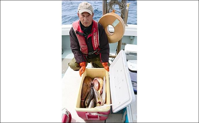 【響灘】船釣り最新釣果 ジギングでヒラマサに泳がせで根魚が好調