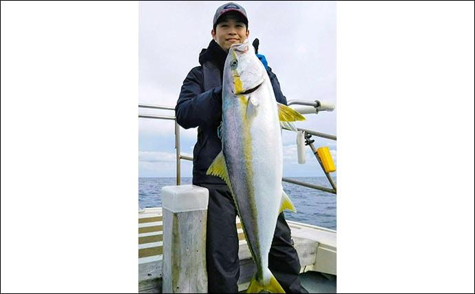 【響灘】船釣り最新釣果 ジギングで良型マダイ&ヒラマサ好捕