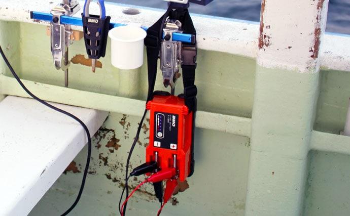 大型青物とのパワーバトルを電動ジギングで制す キモはバッテリー?