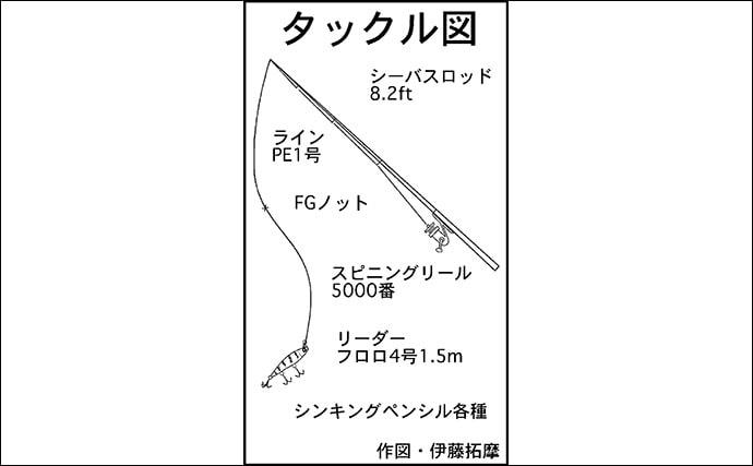 シーバスゲームで50cm頭に7尾 シンペンに好反応【三重・河芸漁港】