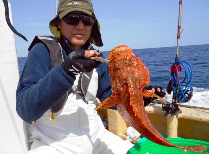 好ゲストにも期待のオニカサゴ釣行 本格化する夏場に期待【第2二三丸】