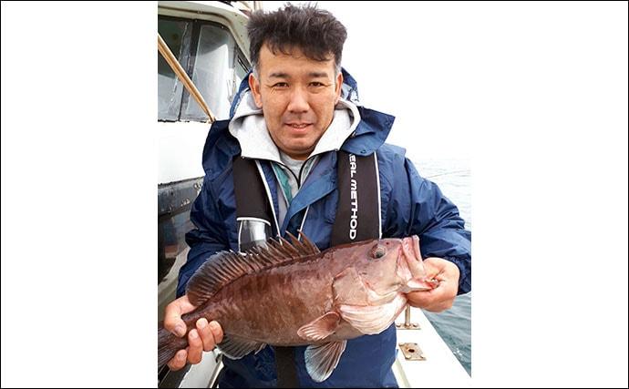 【玄界灘】沖のエサ釣り最新釣果 アジ泳がせ釣りで7kg超大型タカバ