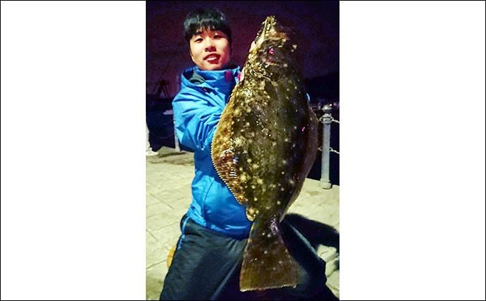 陸っぱりテンヤタチウオ釣行 想定外釣果は50cm級ヒラメ【陸軍桟橋】
