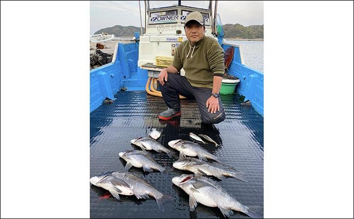 【三重】カカリ釣り最新釣果 55cm級年無し含みクロダイ数釣り好調