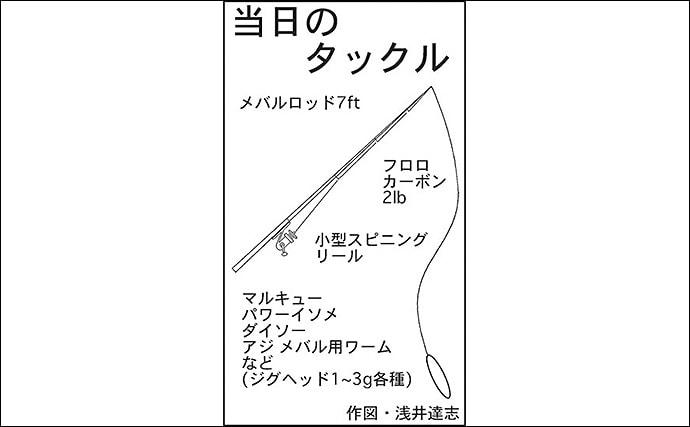 『百均ワーム』のライトロックゲームでメバル連釣【名古屋港】