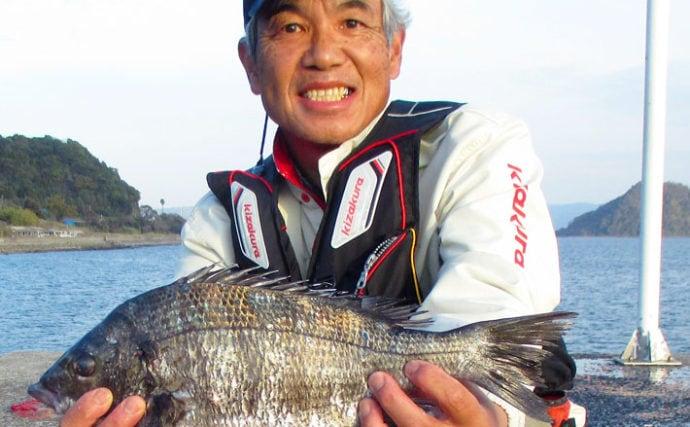 波止フカセ釣りで45cm頭にチヌのツ抜けを達成【鹿児島・永浜漁港】