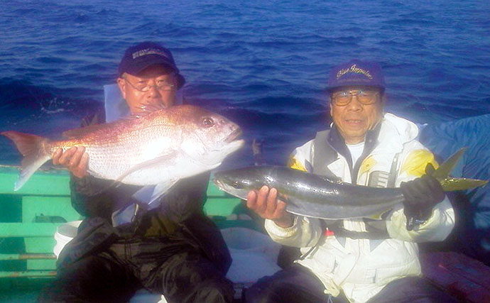 【玄界灘】沖のエサ釣最新釣果 エビラバで良型マダイ順調ヒット