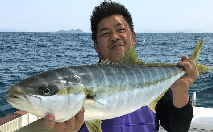 オフショアジギング釣行で94cmヒラマサ 良型中心で今後に期待【芦屋沖】