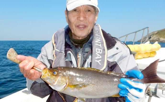 イサキ釣りで平均20尾手中 タナ合わせが重要【福岡・第二大福丸】