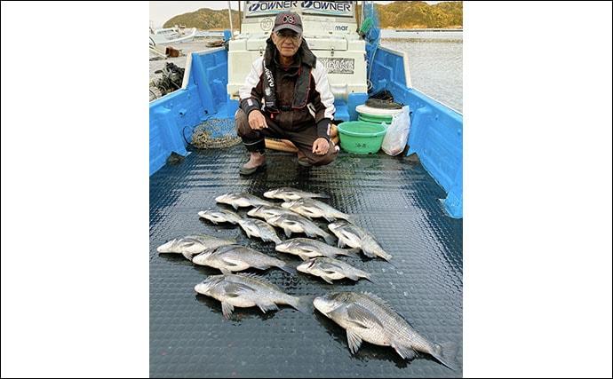 【三重】カカリ釣り最新釣果 イカダエギングで春アオリイカ好調