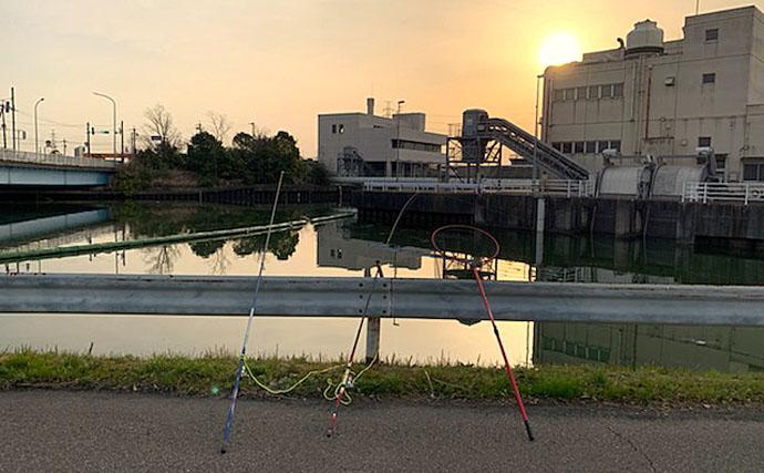 ブッコミ釣りで天然ウナギ手中 「ウナギ道」にアタリ集中?【愛知】