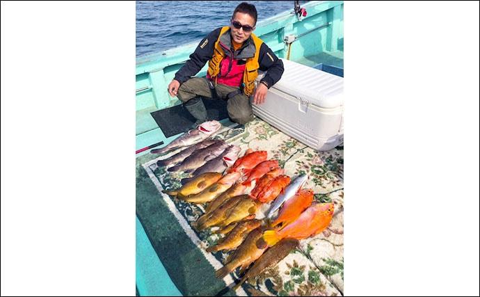 【玄界灘】沖のエサ釣り最新釣果 エビラバ&テンビン五目で良型マダイ
