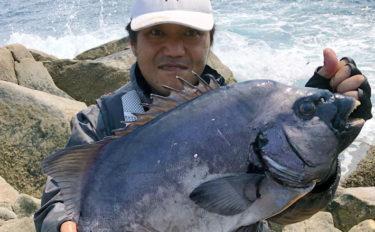 磯での『石物釣り』で63cm本命イシダイの強引堪能【鹿児島・内之浦】