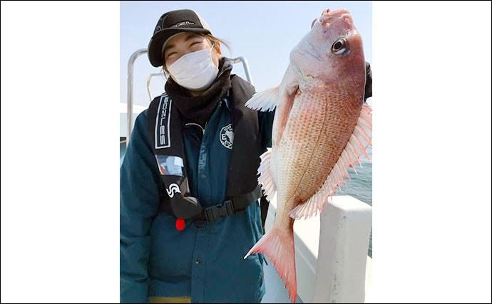 【愛知】沖のルアーフィッシング最新釣果 タイラバで良型マダイ続々