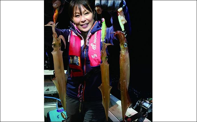 深夜便でヤリイカ40匹 プラヅノ苦戦もエサ巻きスッテがアタリ【福井】