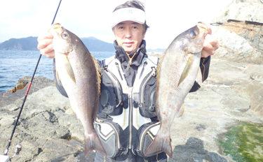 磯フカセ釣りで良型イサキに挑戦 45cm級2ケタ手中【鹿児島・上甑島】