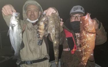 ナイトボートゲームで8種目合計100匹以上の多彩釣果【名古屋港】