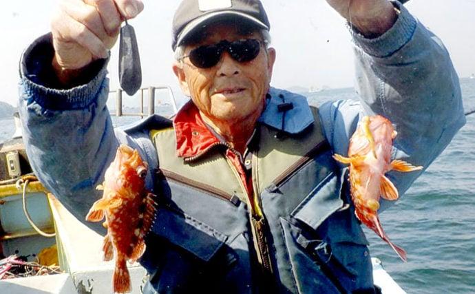 深場での船カサゴ釣り 27cm頭に38匹の大釣り達成【愛知・すずえい丸】
