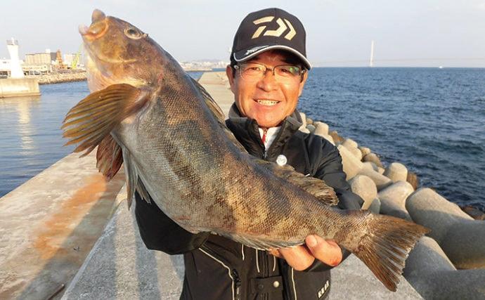 都市近郊の好投げ釣り場:明石新浜 夏はキスにスズキにマダイも範疇