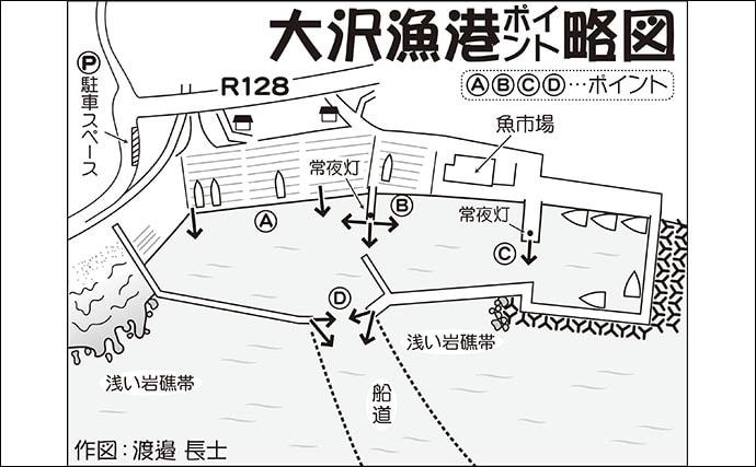 房総アジング好釣り場:大沢漁港 詳細ポイント&攻略法