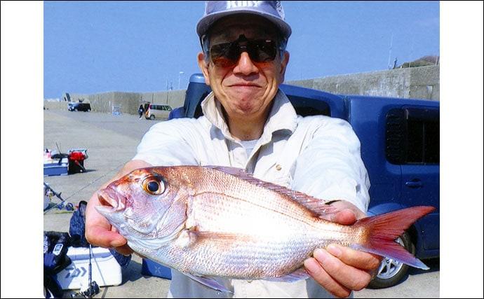 コマセマダイ釣りで船中トップは良型3尾【新潟・大進丸】