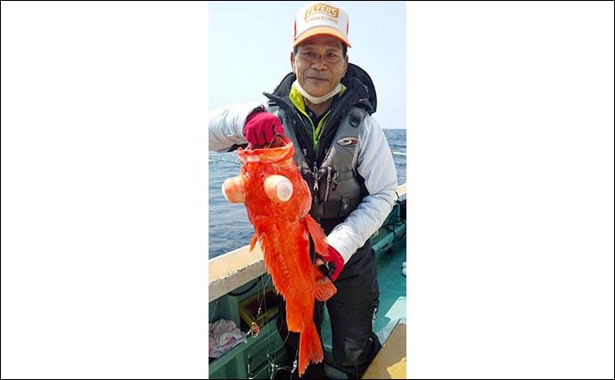 キンメダイ釣りで最大14連掛けの数釣り堪能 好ゲストは70cmアコウダイ