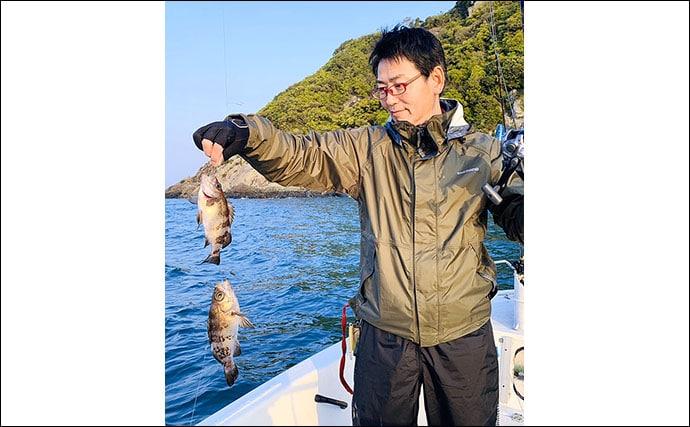 落とし込み釣りでヒラメ18尾にスズキ5尾 イワシの付き良好【幸龍丸】