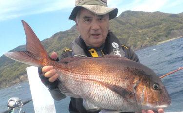 完全フカセ釣りで乗っ込みを狙う 68cm頭に2人でマダイ14匹【越前沖】