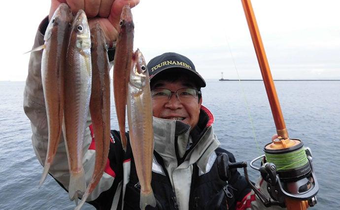都市近郊の好投げ釣り場:播磨新島赤灯波止 アタリ止まれば移動が鉄則