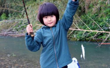 子連れ釣行には小アユ釣りがオススメ 連続ヒットを親子で満喫【犬上川】