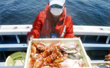 『ウタセ五目』釣りでマダイにカワハギにカサゴなど多魚種釣果【忠栄丸】