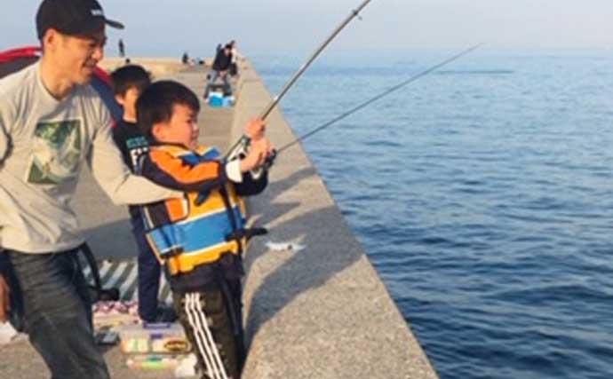 子連れ「ちょい投げ」釣り 良型シタビラメに子供笑顔【愛知・南知多】