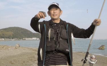 投げキス釣りで22cm頭に59匹 良型混じる好釣果【三重・神前海岸】