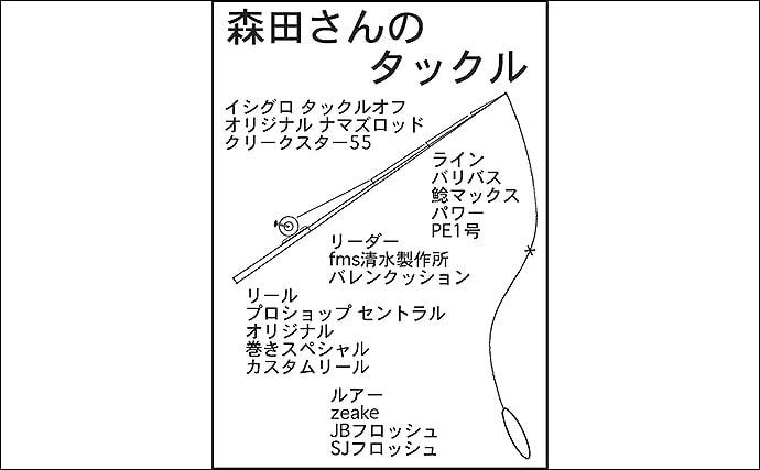 ナマズトップゲームで60cm級含む2尾をキャッチ【愛知・新川水系】