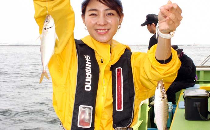 東京湾LTアジで良型本命&サバの強引を堪能【神奈川・荒川屋】