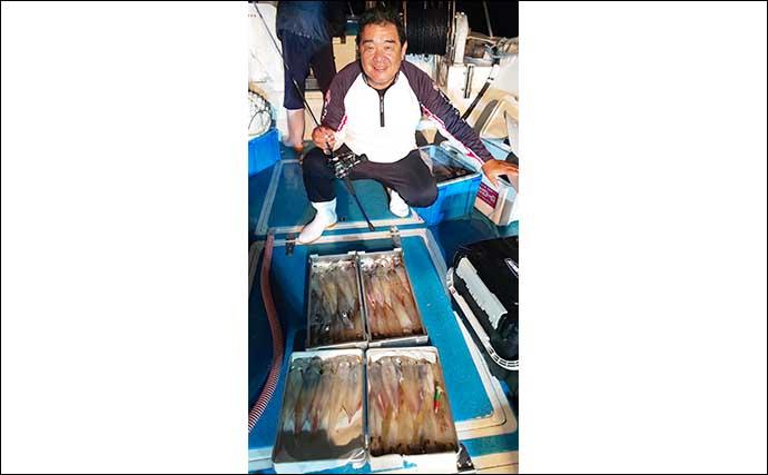 【玄界灘】夜焚きイカ最新釣果 パラソル級まじりで船中1000尾の日も