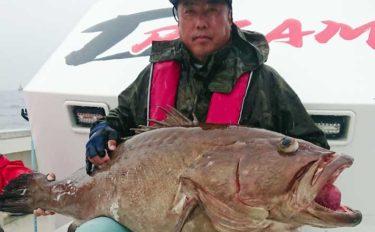 【玄界灘】沖のエサ釣り最新釣果 35kg超大型『アラ』堂々浮上