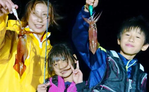 【響灘】夜焚きイカ最新釣果 良型まじりで一人50尾の好釣果